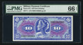 Military Payment Certificates:Series 611, Series 611 $10 PMG Gem Uncirculated 66 EPQ.. ...