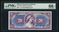 Military Payment Certificates:Series 691, Series 691 $20 PMG Gem Uncirculated 66 EPQ.. ...
