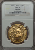 China:People's Republic of China, China: People's Republic of China gold Panda 100 Yuan 1985 MS69 NGC,...