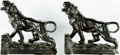 Books:Furniture & Accessories, [Bookends]. Pair of Matching Metal Tiger Bookends. Unsigned,undated. ... (Total: 2 Items)