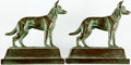 Books:Furniture & Accessories, [Bookends]. Pair of Matching Metal Dog Bookends. Unsigned,undated.... (Total: 2 Items)