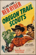 "Movie Posters:Western, Oregon Trail Scouts (Republic, 1947). One Sheet (27"" X 41"").Western.. ..."