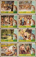 "Movie Posters:Adventure, Tarzan and the Amazons (RKO, 1945). Lobby Card Set of 8 (11"" X14""). Adventure.. ... (Total: 8 Items)"