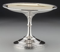A William Gale & Son Partial Gilt Silver Medallion Tazza, New York, New York , circa