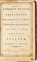 Books:Religion & Theology, [Religion & Theology]. The Book of Common Prayer. Philadelphia: Printed by Hall & Sellers, 1790....