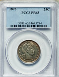 Proof Barber Quarters: , 1895 25C PR63 PCGS. PCGS Population (54/124). NGC Census: (26/151). Mintage: 880. Numismedia Wsl. Price for problem free NG...
