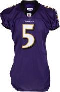 Football Collectibles:Uniforms, 2010 Joe Flacco Game Worn Baltimore Ravens Uniform....
