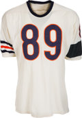 Football Collectibles:Uniforms, 1964 Mike Ditka Game Worn Chicago Bears Jersey with Rare Memorial Armband, MEARS A10....