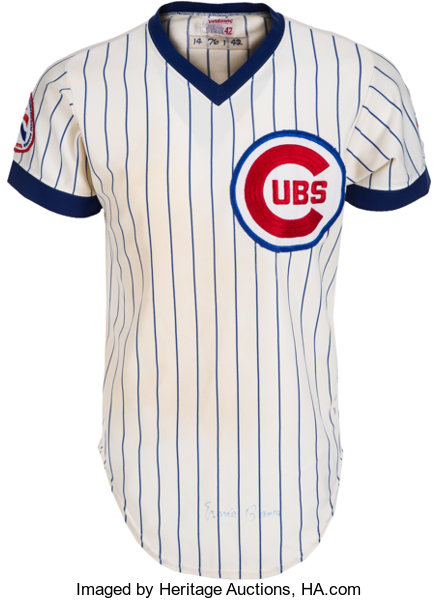 on sale 2cd00 b0ab4 1976 Ernie Banks Game Worn, Signed Chicago Cubs Coach's ...