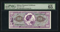 Military Payment Certificates:Series 651, Series 651 $10 PMG Gem Uncirculated 65.. ...