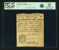 Colonial Notes:Connecticut, Colony of Connecticut July 12, 1709 3 Shillings Raised to 10Shillings Fr. CT-3a. PCGS Very Fine 30 Apparent.. ...