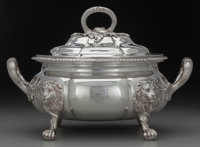 A HOWARD & CO. SILVER COVERED TUREEN, New York, New York, circa 1885 Marks: HOWARD & CO., STERLING, NEW YORK, 1...