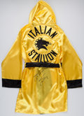 "Boxing Collectibles:Autographs, Sylvester Stallone Signed ""Italian Stallion"" Robe...."