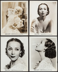 """Dolores del Rio in Madame Du Barry (Warner Brothers, 1934). Portrait Photos (8) (8"""" X 10""""). Miscellaneous..."""