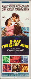 "Movie Posters:War, D-Day The Sixth of June (20th Century Fox, 1956). Insert (14"" X36""). War.. ..."