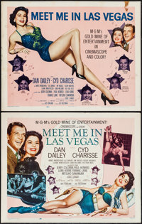 """Meet Me in Las Vegas (MGM, 1956). Half Sheets (2) (22"""" X 28"""") Styles A & B. Musical. ... (Total: 2 Ite..."""