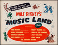 "Movie Posters:Animation, Music Land (RKO, 1955). Half Sheet (22"" X 28"") Style A. Animation....."