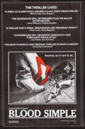 """Movie Posters:Thriller, Blood Simple (Circle Films, 1984). One Sheet (24"""" X 36.5"""").Thriller.. ..."""