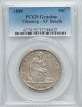 Seated Half Dollars: , 1888 50C -- Cleaning -- PCGS Genuine. XF Details. NGC Census: (3/104). PCGS Population (9/158). Mintage: 12,000. Numismedia...