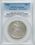 Seated Half Dollars, 1882 50C -- Smoothed -- PCGS Genuine. XF Details. NGC Census: (2/55). PCGS Population (5/97). Mintage: 4,400. Numismedia Ws...