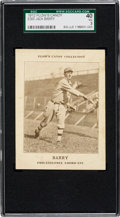 Baseball Cards:Singles (Pre-1930), 1912 E300 Plow's Candy Jack Barry SGC 40 VG 3 - The Only SGCExample! ...