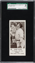 Baseball Cards:Singles (Pre-1930), 1928 Babe Ruth Candy Co. Babe Ruth #5 SGC 80 EX/NM 6 - HighestRecorded Grade. ...
