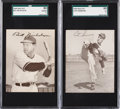 Baseball Cards:Singles (1940-1949), 1949 Sealtest Ice Cream Phillies Nicholson & Simmons SGC Graded Pair (2). ...