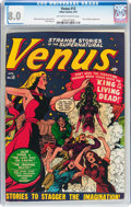 Golden Age (1938-1955):Horror, Venus #13 (Timely, 1951) CGC VF 8.0 Off-white to white pages....