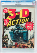 Golden Age (1938-1955):War, 3-D Action #1 (Atlas, 1954) CGC FN+ 6.5 Off-white pages....