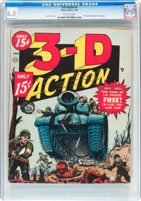 3-D Action #1 (Atlas, 1954) CGC FN+ 6.5 Off-white pages