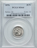 Three Cent Nickels: , 1876 3CN MS64 PCGS. PCGS Population (52/42). NGC Census: (33/20). Mintage: 160,800. Numismedia Wsl. Price for problem free ...