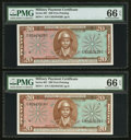 Military Payment Certificates:Series 681, Series 681 $20 Two Examples Gem Uncirculated 66 EPQ.. ... (Total: 2 notes)
