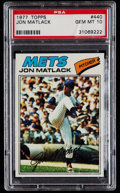 Baseball Cards:Singles (1970-Now), 1977 Topps Jon Matlack #440 PSA Gem Mint 10....