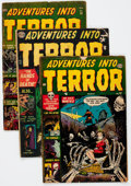 Golden Age (1938-1955):Horror, Adventures Into Terror Group of 5 (Atlas, 1952-53) Condition:Average GD+.... (Total: 5 Comic Books)