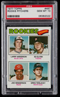 Baseball Cards:Singles (1970-Now), 1977 Topps Rookie Pitchers #487 PSA Gem Mint 10....
