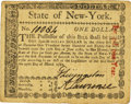 Colonial Notes:New York, State of New York March 27, 1781 $1 Fr. NY-214. PCGS Extremely Fine45PPQ.. ...
