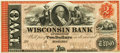 Obsoletes By State:Wisconsin, Madison, WI - Wisconsin Bank of Madison $2 18__ WI-405 G4a. Proof. PCGS Superb Gem New 67PPQ.. ...