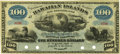 Obsoletes By State:Hawaii, Hawaiian Islands $100 No Date (1879) Silver Certificate of DepositSCWPM 4b Remainder. PCGS Choice About New 58.. ...