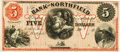 Obsoletes By State:Minnesota, Northfield, MN - Bank of Northfield $5 18__ MN-98 G8a HewittB440-D5. Proof. PCGS Gem New 66PPQ.. ...