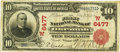 National Bank Notes:Oklahoma, Okemah, IT - $10 1902 Red Seal Fr. 613 The First NB Ch. # (W)6477PCGS Very Fine 25.. ...