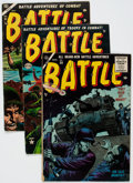 Golden Age (1938-1955):War, Battle Group of 4 (Marvel, 1953-55) Condition: Average VG+.... (Total: 4 Comic Books)