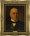 """Political:3D & Other Display (1896-present), William McKinley and Ida McKinley Oil Portraits by Lawrence Williams. Each oil portrait is 16"""" x 20"""" and framed in gilt to a... (Total: 2 Item)"""