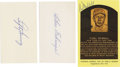 Autographs:Index Cards, Baseball Hall of Famers Signed Index and Postcards Lot of 4. Trioof Hall of Fame signatures here. Two index cards signed ...