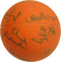Basketball Collectibles:Balls, 1979-80 Philadelphia 76'ers Team Signed Basketball . The unofficialbasketball sports fifteen signatures of the 1979-80 Phi...
