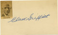 Autographs:Index Cards, Clark Griffith Signed Index Card. The Old Fox here offers atremendous example of his Hall of Fame signature to the index c...