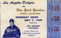 Baseball Collectibles:Tickets, May 7, 1959 Roy Campanella Night Ticket Stub. Here we present atough high-quality stub from the May 1957 game that the Los ...