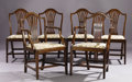 Miscellaneous, A Set of Six Hepplewhite Dining Chairs. Unknown maker, English. 19th century. Mahogany. Unmarked. 35 inches high. ... (Total: 6 Items)