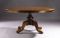Miscellaneous, An English Oval Table. Unknown maker, English. 19th century. Walnut, elm. Unmarked. 27 inches high, 56-1/2...