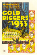 "Movie Posters:Musical, Gold Diggers of 1933 (Warner Brothers, 1933). One Sheet (27"" X 41"")Style B...."