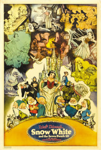 "Snow White and the Seven Dwarfs (RKO, 1937). Poster (40"" X 60"")"